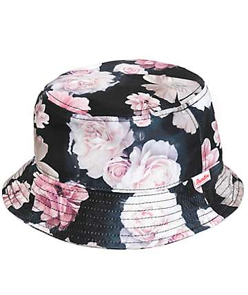 Primitive Rose Noir Bucket Hat