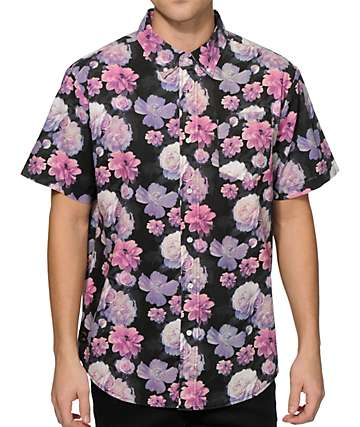 Primitive Rose Noir Button Up Shirt