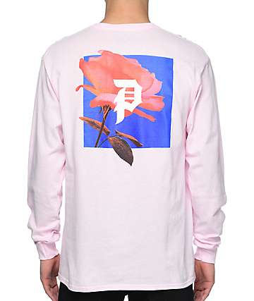 Primitive Rose Out camiseta rosa de manga larga