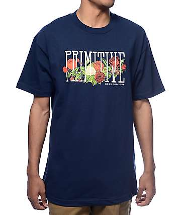 Primitive Rosebud Navy T-Shirt