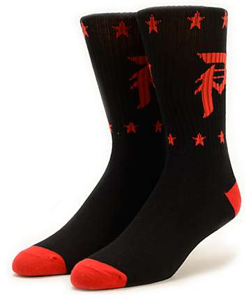 Primitive Salute Black Crew Socks