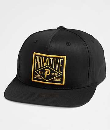 Primitive Slugger Black Snapback Hat