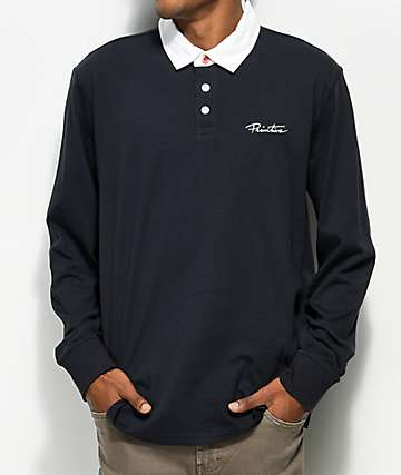 Primitive Solid Rugby Midnight Long Sleeve Polo Shirt