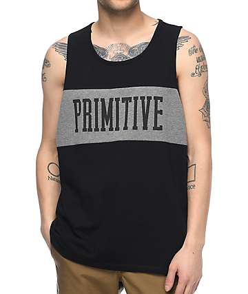 Primitive Sprinter League Black Tank Top