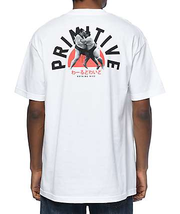Primitive Sumo White T-Shirt