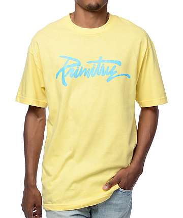 Primitive Thrashed Banana camiseta en amarillo