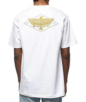 Primitive Thunderbird White Pocket T-Shirt