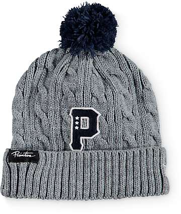 Primitive Timeless New Era Cable Knit Pom Beanie