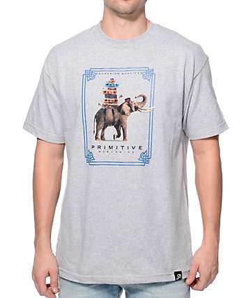 Primitive Traveler Heather Grey T-Shirt
