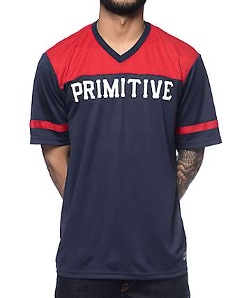 Primitive Unite Navy & Red Soccer Jersey