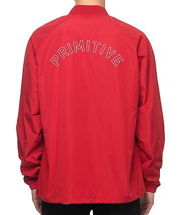 Primitive Varsity chaqueta entrenador en rojo