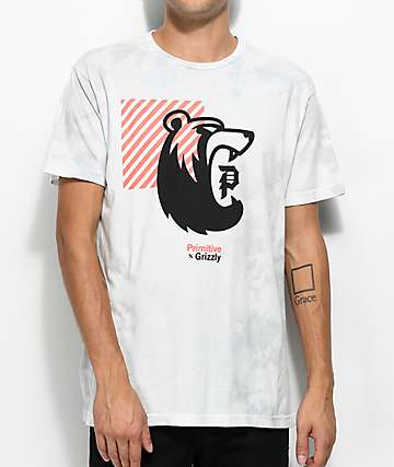 Primitive X Grizzly Bearhaus Washed Ice Grey T-Shirt