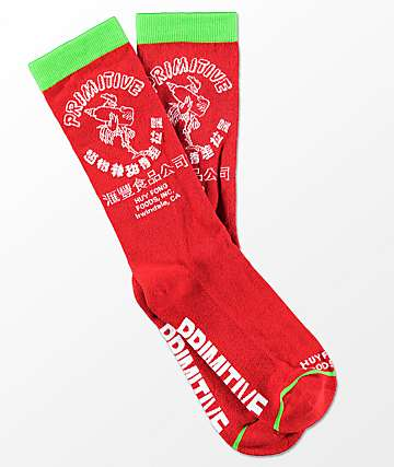 Primitive X Huy Fong Bottle Crew Socks