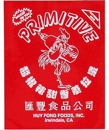 Primitive X Huy Fong Logo pegatina