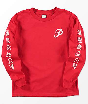 Primitive x Huy Fong Boys Long Sleeve Red T-Shirt