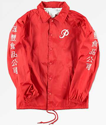 Primitive x Huy Fong Boys Red Coaches Jacket