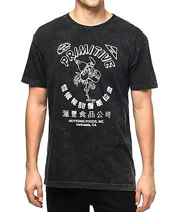 Primitive x Huy Fong Foods Black Acid Wash T-Shirt