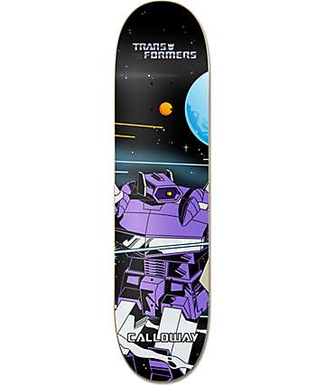 "Primitive x Transformers Calloway Shockwave 8.0"" Skateboard Deck"