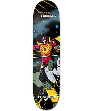 "Primitive x Transformers Peacock Hot Rod 8.0""  Skateboard Deck"