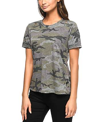 Prince Peter Collection Kendall Destructed Camo T-Shirt