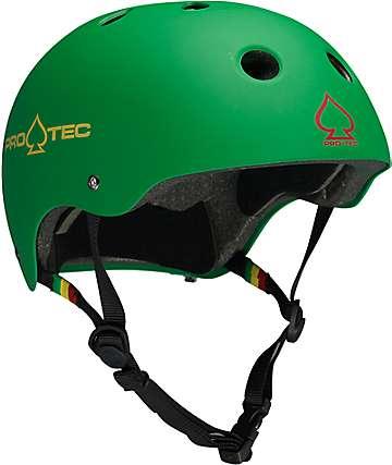 Pro-Tec Classic Multi-Sport Matte Rasta Green CPSC Certified Helmet