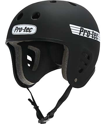 Pro-Tec Full-Cut Rubber Black Skate Helmet