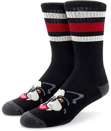Psockadelic Beta Black Crew Socks