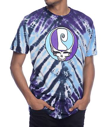 Psockadelic Grateful Blue Tie Dye T-Shirt