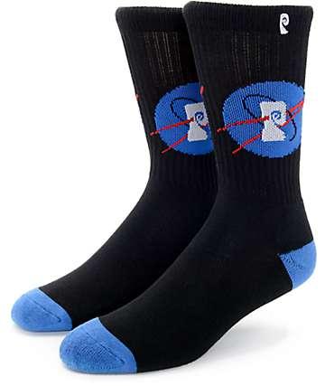 Psockadelic Herman Space Black Crew Socks