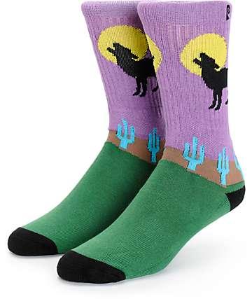 Psockadelic Howlin Crew Socks
