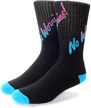 Psockadelic No Worries Crew Socks