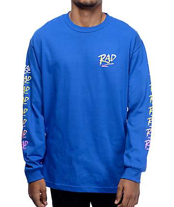 Psockadelic Rad Blue Long Sleeve T-Shirt