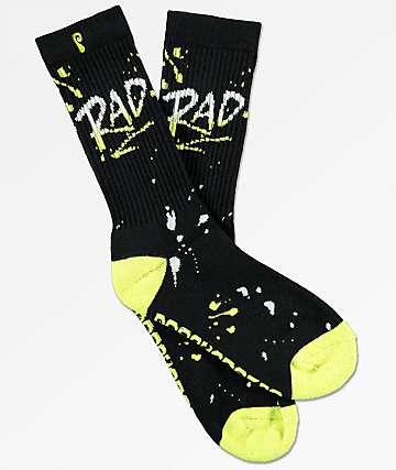 Psockadelic Rad Glow In The Dark Crew Socks