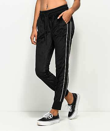 Publish Henny Black Velour Jogger Sweatpants