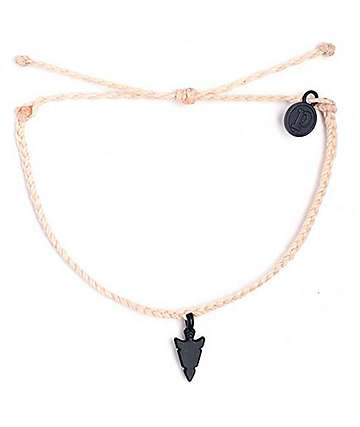 Pura Vida Black Arrowhead Vanilla Bracelet