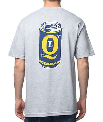Quiet Life Beer Can Heather Grey T-Shirt