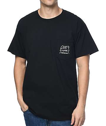 Quiet Life Metal Pocket Black T-Shirt