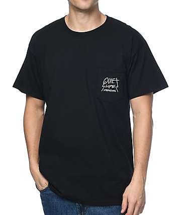 Quiet Life Metal Pocket Black T-Shirt