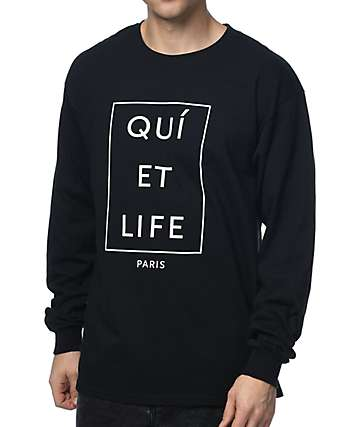 Quiet Life Paris Long Sleeve Black T-Shirt