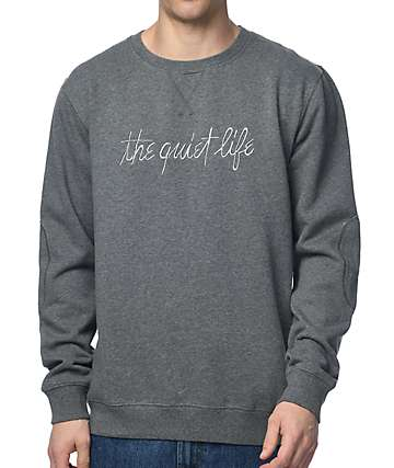 Quiet Life Pen & Ink Professor Heather Grey Crew Neck Sweatshirt