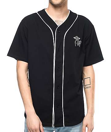 Quiet Life Shhh Black Baseball Jersey