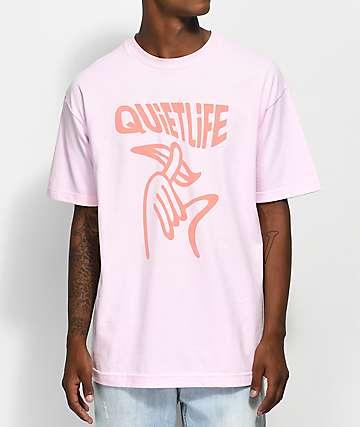 Quiet Life Shhh Wavy camiseta rosa