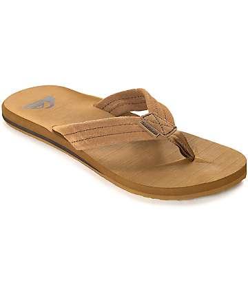 Quiksilver Carver sandalias de ante marrón