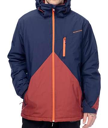Quiksilver Mission 10K chaqueta de snowboard en azul marino color bloqueado