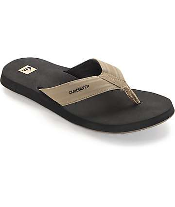 Quiksilver Monkey Wrench Black & Tan Sandals