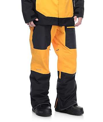 Quiksilver Travis Rice Invert 2L Gore-Tex Cadmium Yellow Snow Pants