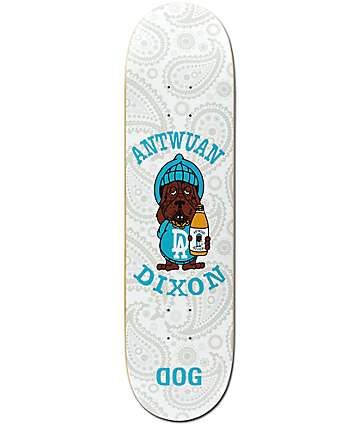 "RAWDOGRAW Dixon White Slosh 8.25"" Skateboard Deck"