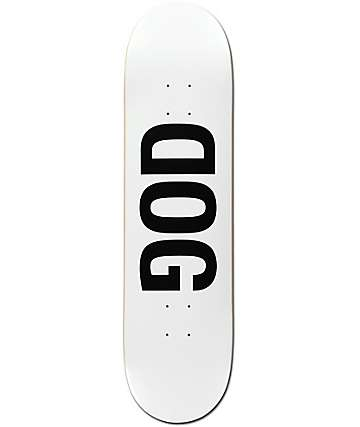 "RAWDOGRAW Dog White 8.12"" Skateboard Deck"