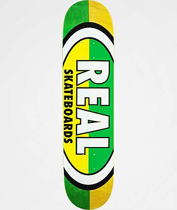 "REAL Team Oval 7.56"" Skateboard Deck"