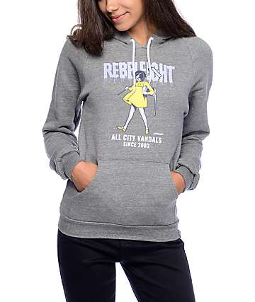 REBEL 8 All City Vandals Grey Hoodie